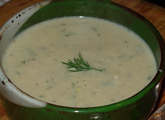 ... Kitchen to Yours: Creamy Cauliflower Soup with Dill and Caraway