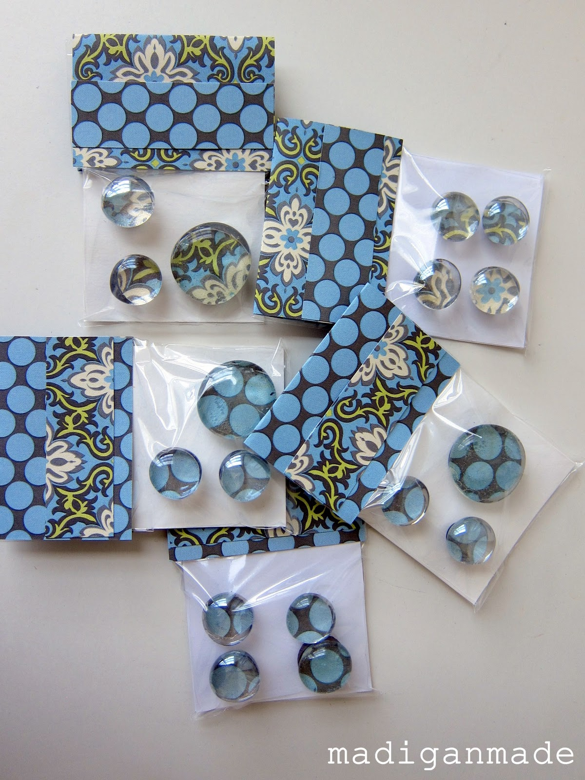 Make a quick gift: Glass gem magnets