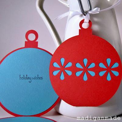 christmas card: a simple die-cut ornament tutorial