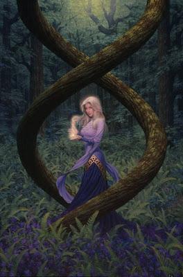 dama hechicera del bosque