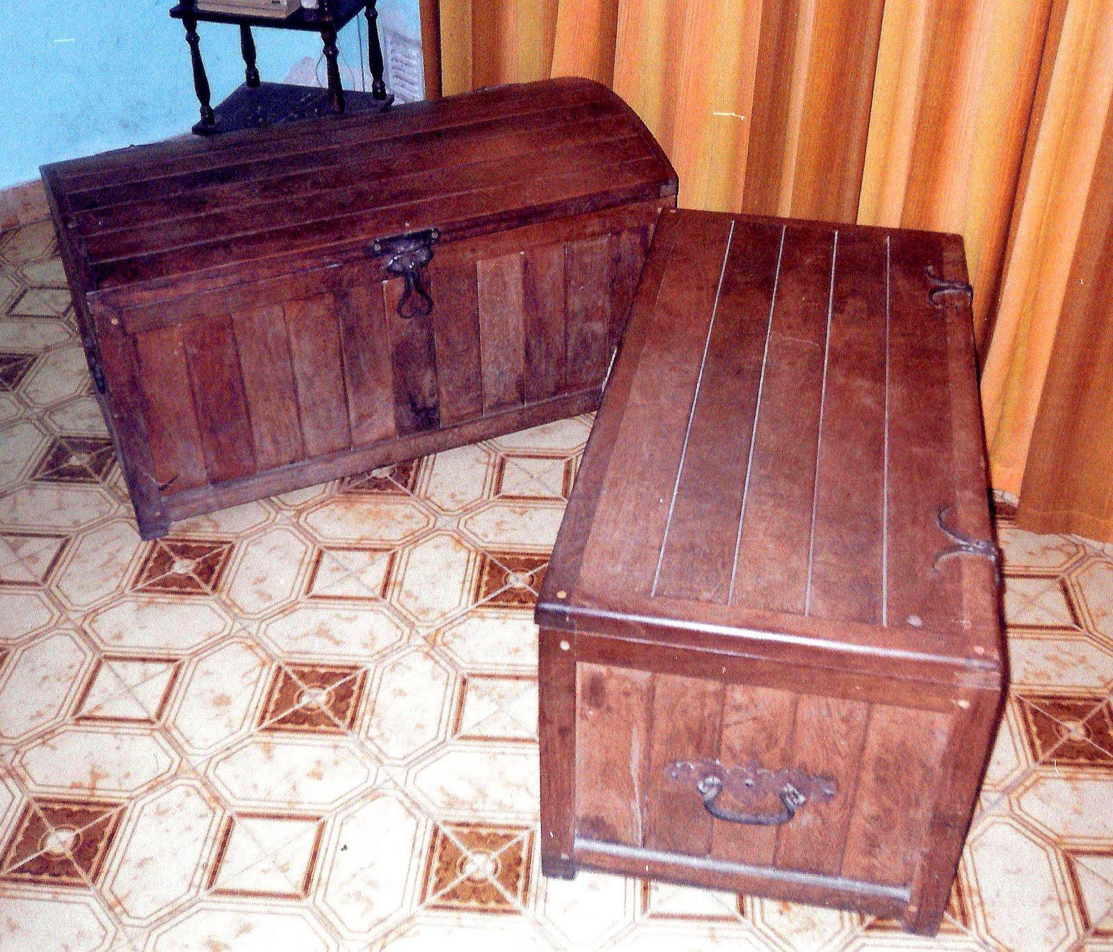 Herreria artistica trevisiol cofres de madera con uniones for Manijas para puertas de madera