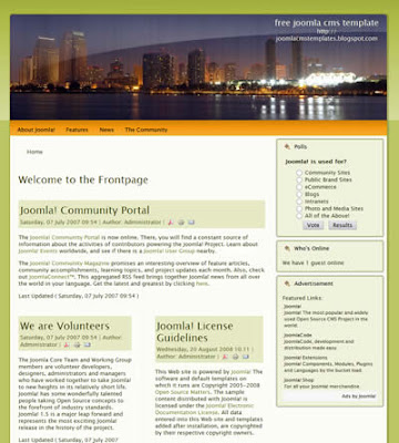 two column joomla template
