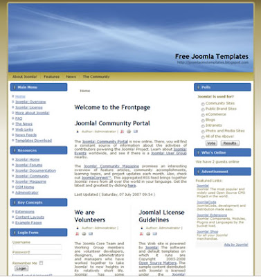 joomla 1.5 template with golden background