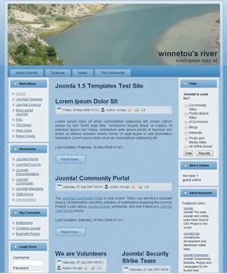 three column joomla 1.5 website template 800 px