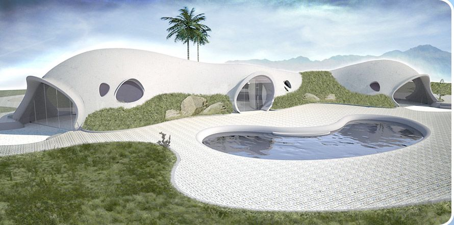 futuristic shell homes globally gorgeous