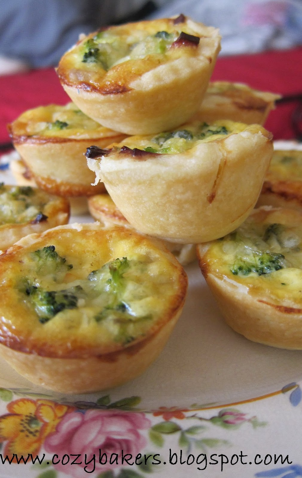 cozybakers: Broccoli, Bacon and Cheddar Cheese Mini Quiche