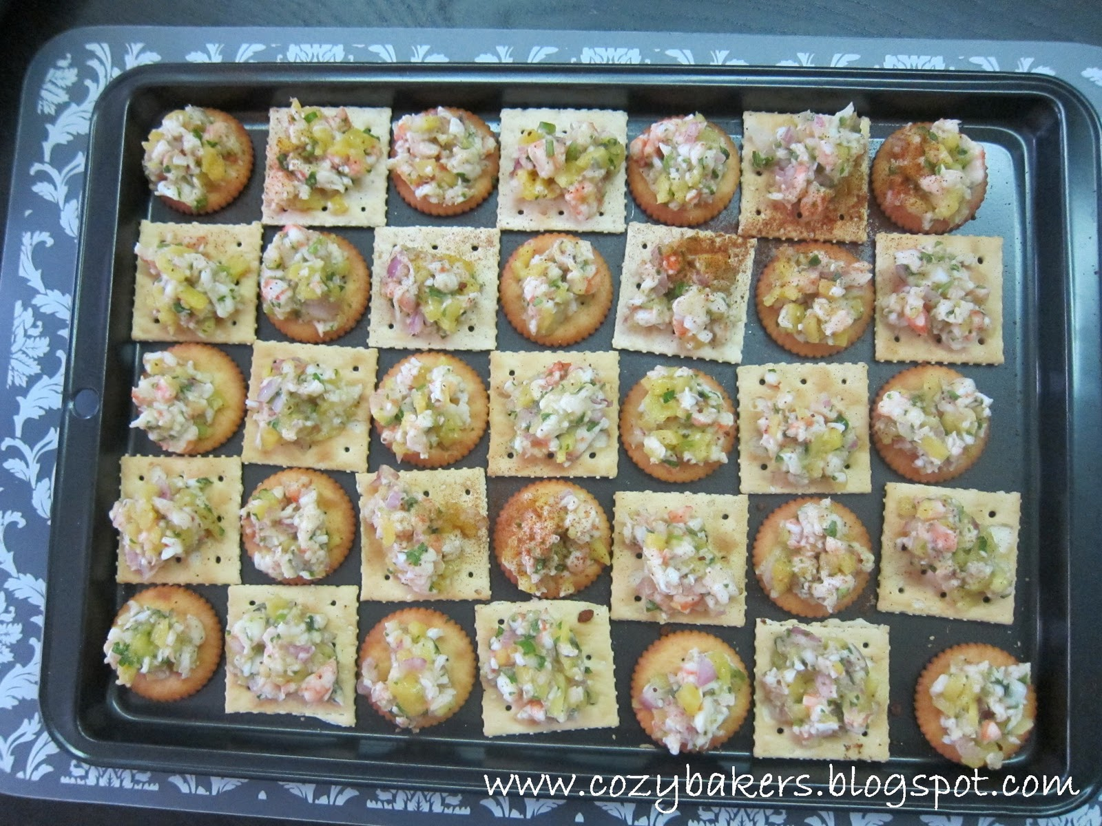 Cozybakers mango prawn canapes for How to make canape cases