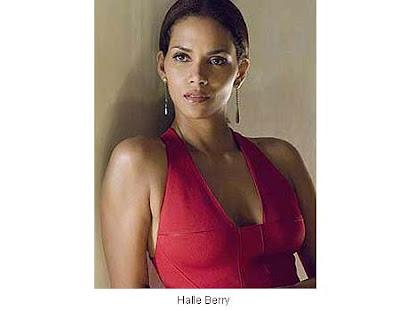 foto de halle berry con vestido rojo
