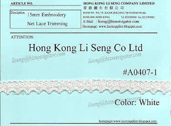 Embroidery Net Lace Trimming Supplier - Hong Kong Li Seng Co Ltd