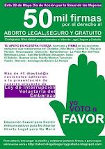 ¡Dejanos tu firma por el Derecho al Aborto Legal, Seguro y Gratuito!