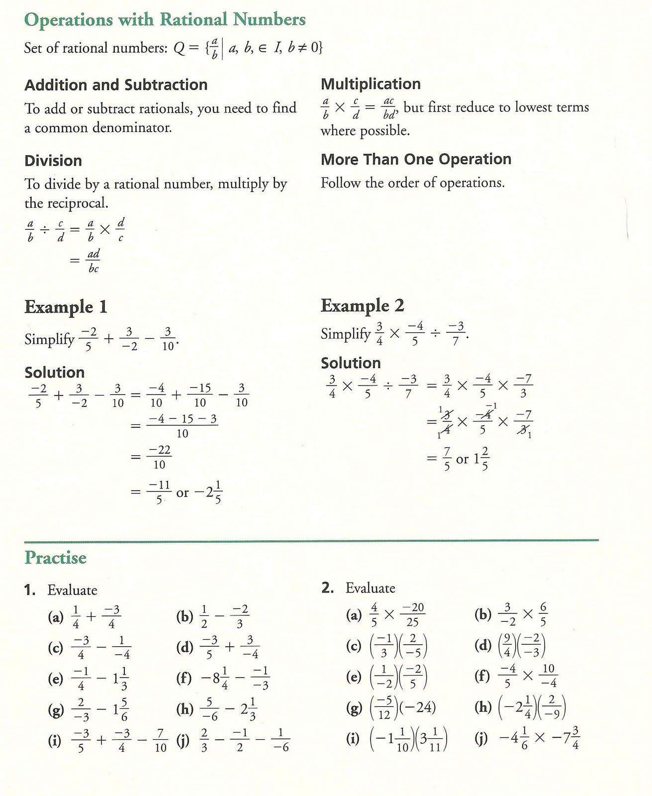 operations with fractions worksheets also paring fractions worksheets ...