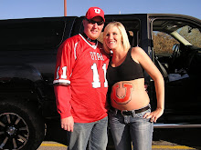 At the Utah vs. BYU game! 7 months prego!!!
