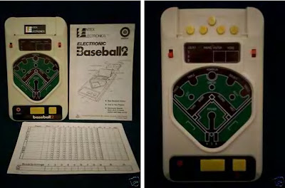 my hand held baseball games - YouTube
