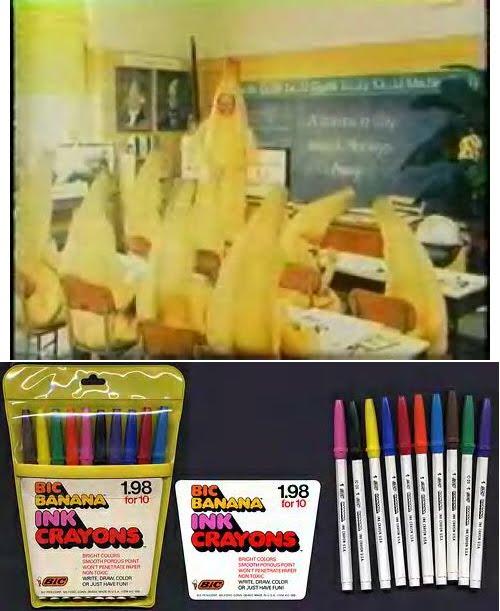 Bic Banana crayons:
