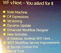 Le futur de WF