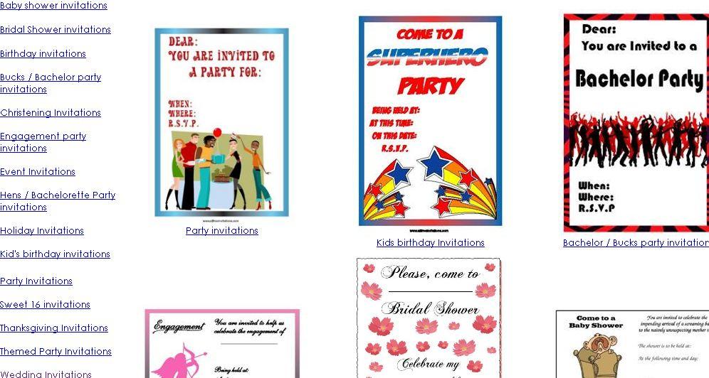Plantillas de Invitaciones de Bodas, Bautizos, Fiestas, Comuniones ...