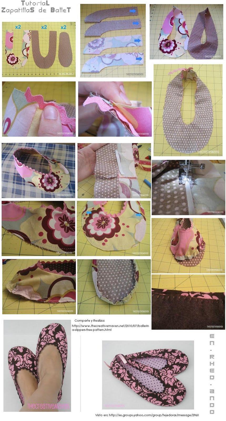 Mis puntadas preferidas: Como hacer unas Zapatillas de Ballet o ...