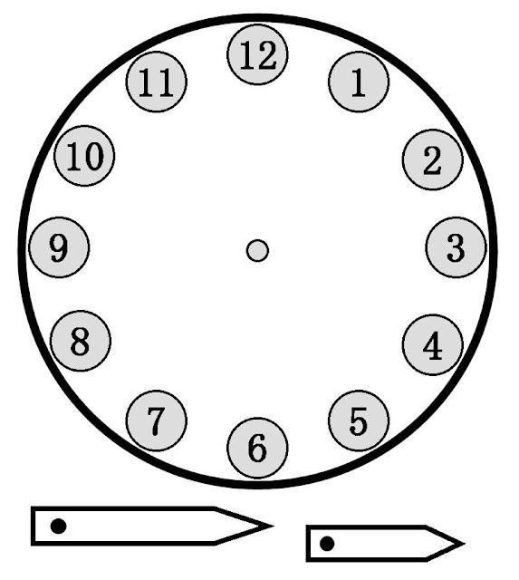 Reloj sin manecillas para imprimir - Imagui