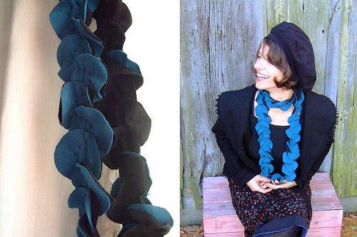 ... como hacer una bufanda de círculos o pétalos como ella la llama es