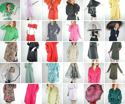 Fashion Raincoats  Women on Vintage Denisebrain  Vintage Rainwear