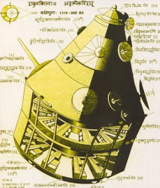 The drawn  picture of vimana (plane ) with all technical data as mentioned in Indian Vimana shastra