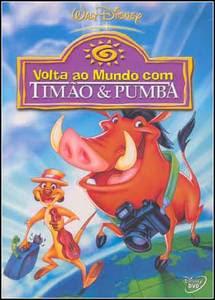 Filme Poster Volta Ao Mundo Com Timão E Pumba DVDRip XVid Dublado