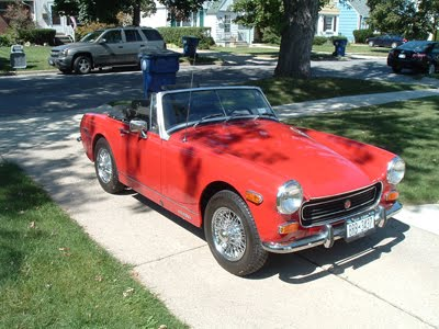 Auto car cooper mg midget