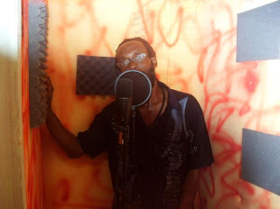 Nigger Ko Jak in Dialtone Studio Recording Booth