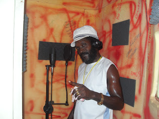 Utan Green in Dialtone Studio Recording Booth