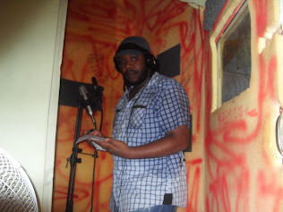 JUNIOR X IN DIALTONE RECORDING BOOTH