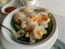 宜蘭武暖手作料理清炒百合明蝦