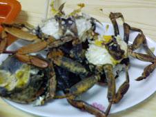台北延平北路慈聖宮前的美味肥毛蟹
