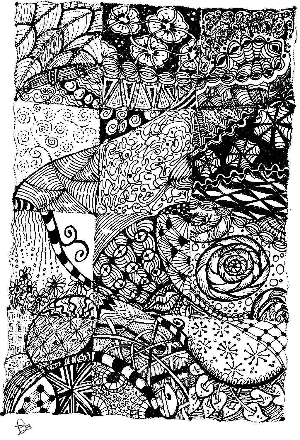 dobriendesign: Zentangle Quilt Inspiration
