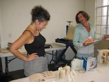 teaching an Encasutic Altered Books workshop at Kala Art Institute, Berkeley, CA