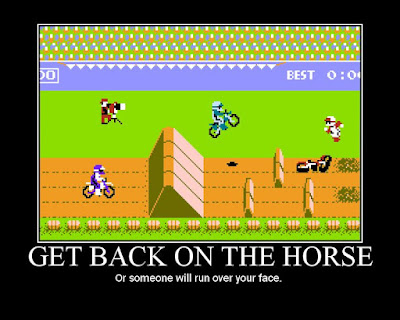 excitebike, NES, Sports, motivational poster, resigned gamer