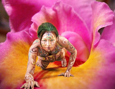 Wonderful Female Body Painting Art