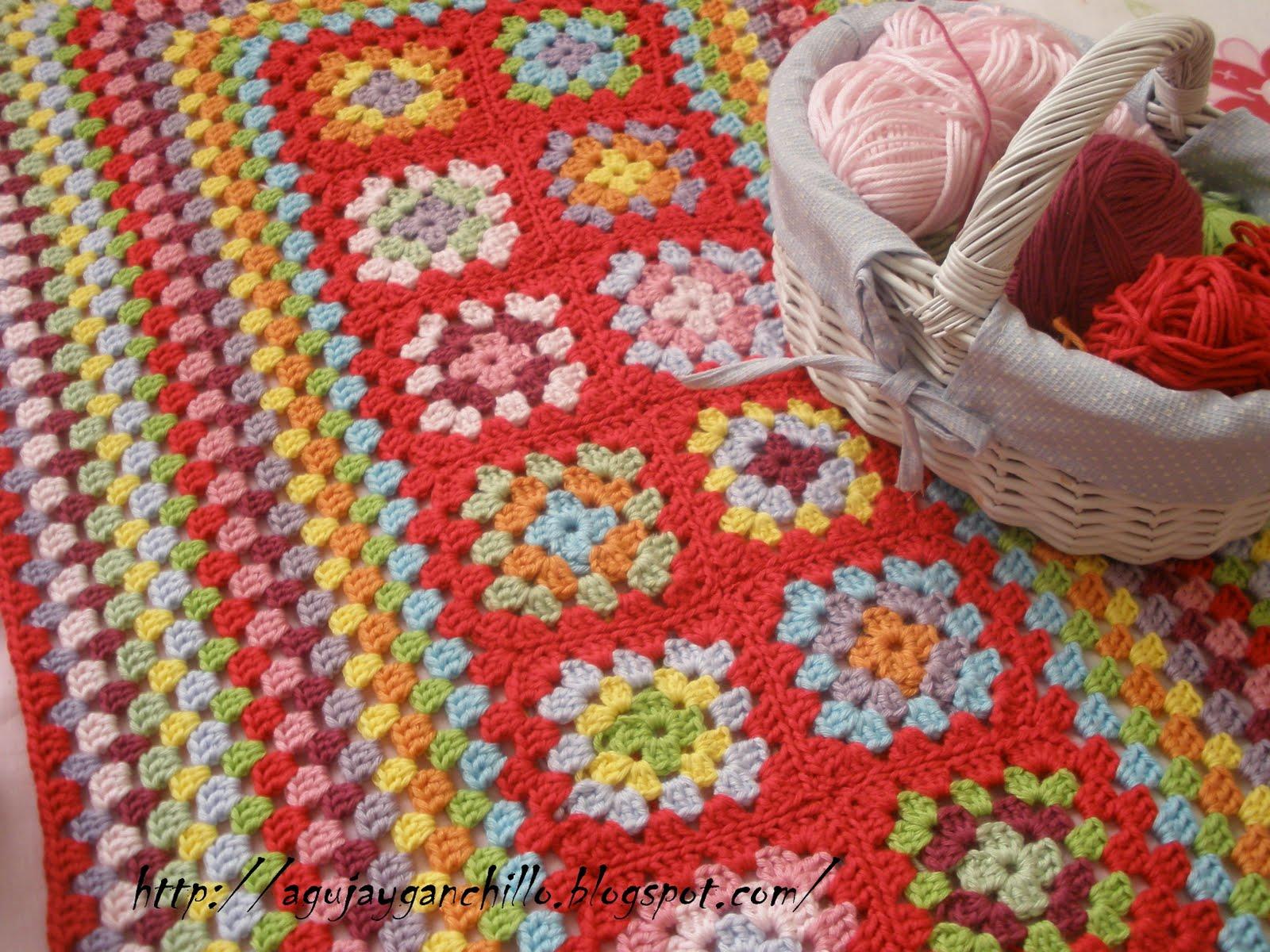 Aguja y ganchillo colores de primavera - Mantas ganchillo colores ...