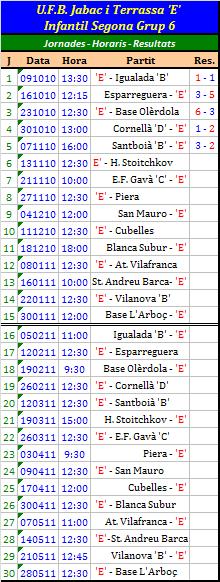 2010-2011 Calendari