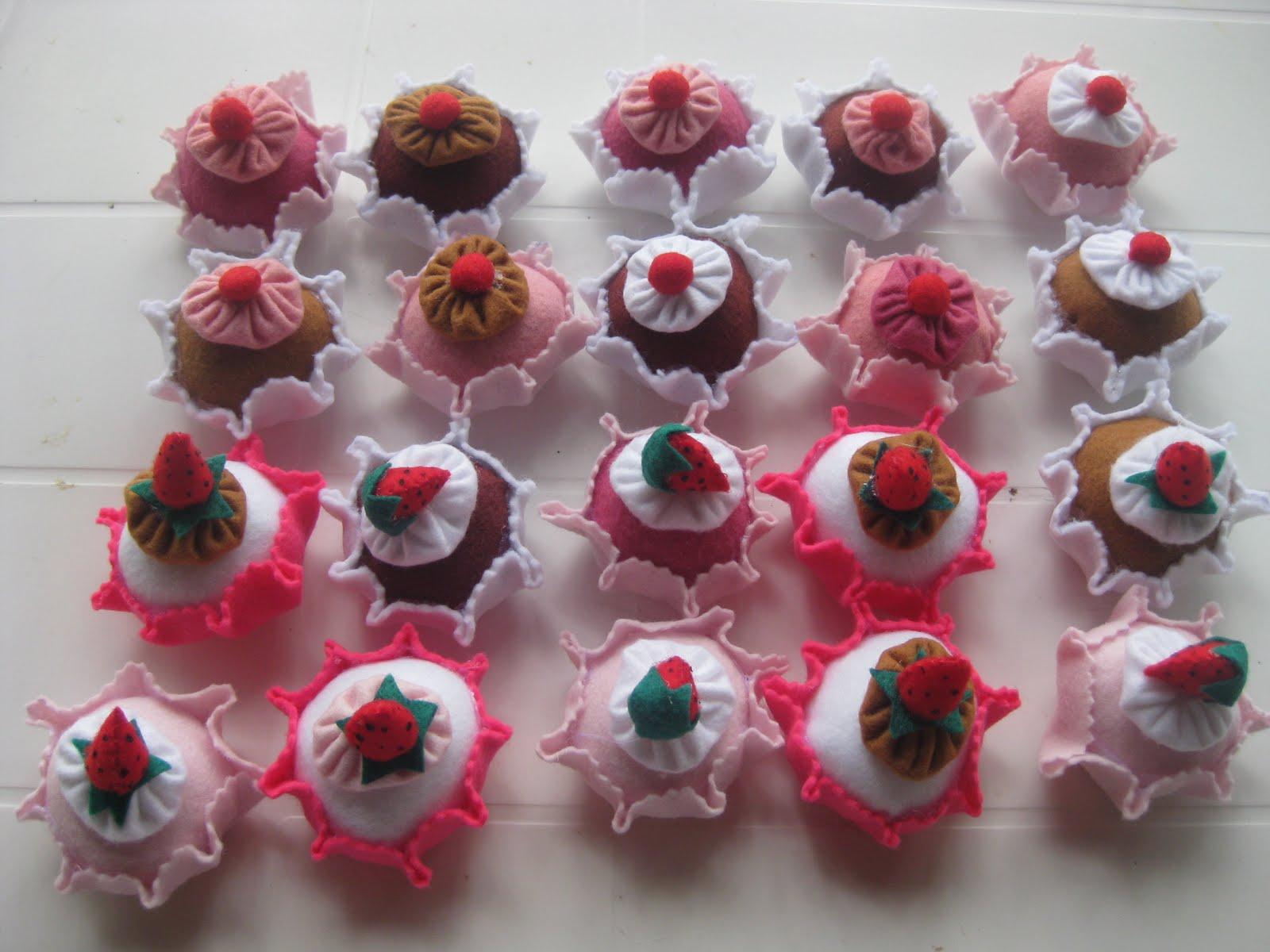 Lembrancinha de chá de cozinha - cupcakes