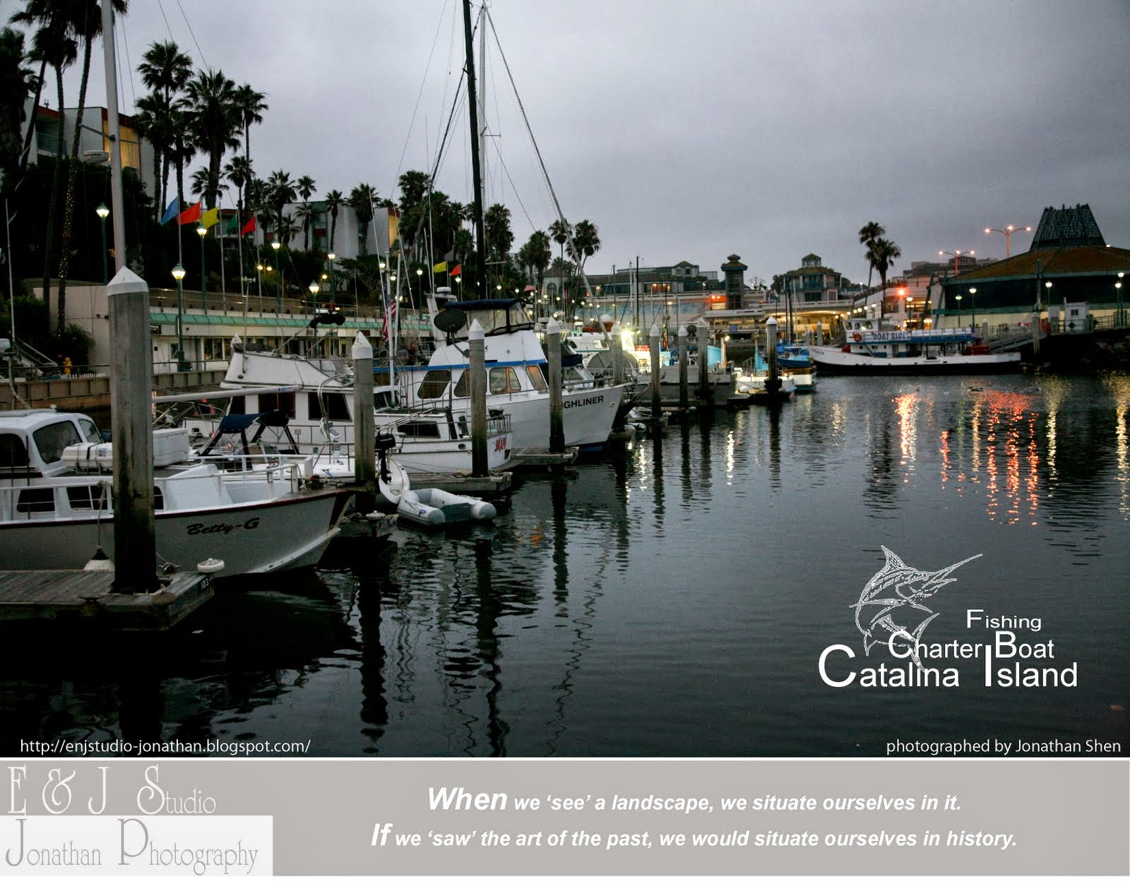 E j studio painting with light fishing in catalina for Catalina island fishing charters