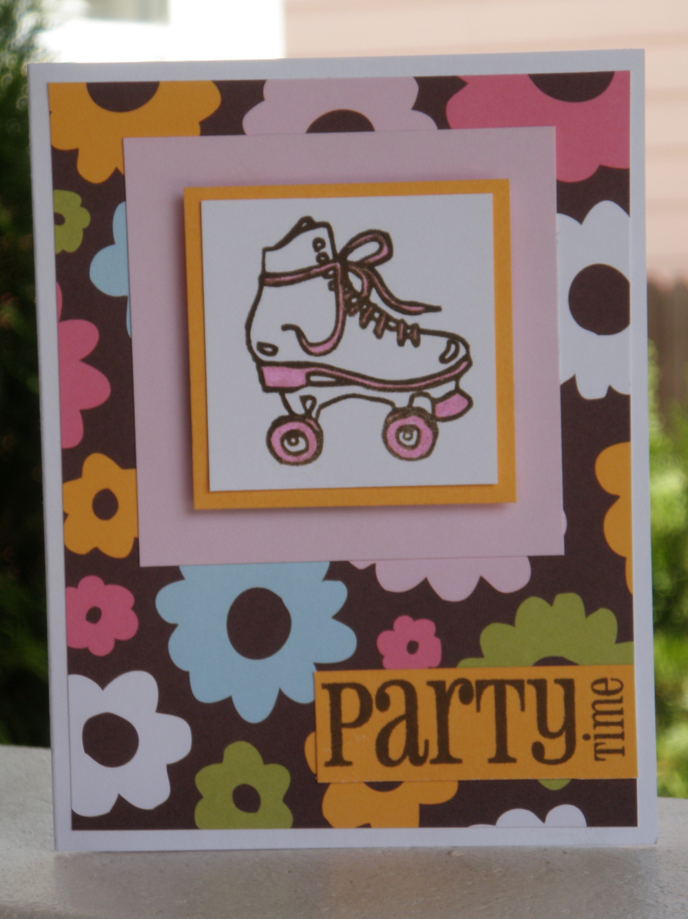 sharing Roller Skates Thank you cards