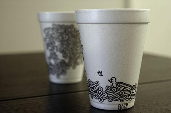 Как сделать для кофе стакан