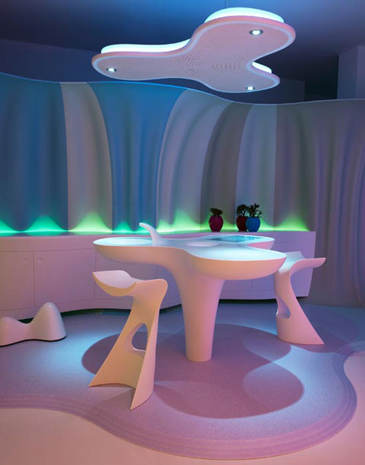 Design thoughts life futuristic interior design by karim rashid - Futuristic home interior ...