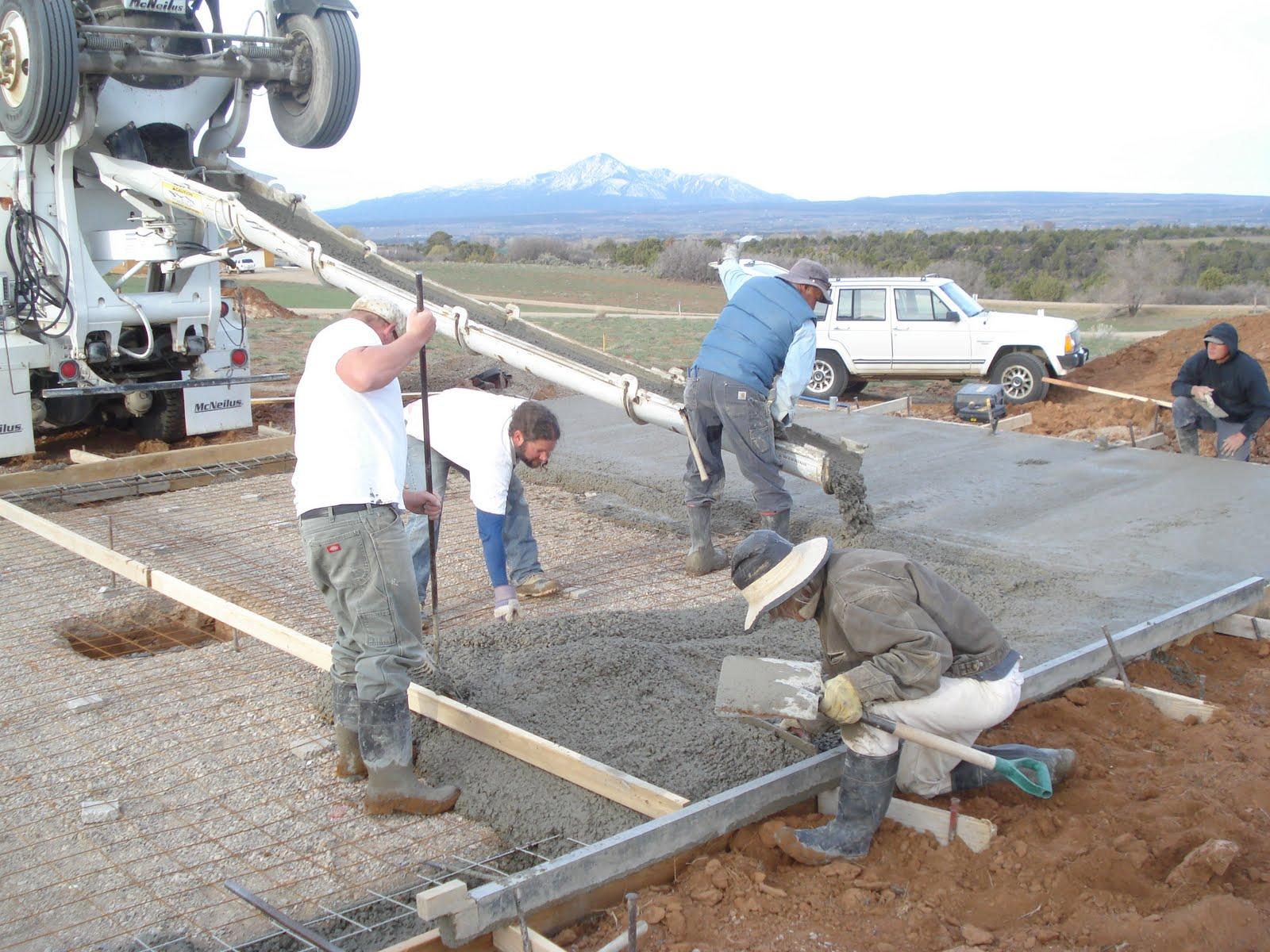 Monolithic Concrete Slab : Dolores house monolithic slab pouring party