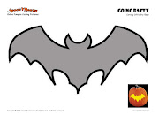 This cool Bat and many more PUMPKIN CARVING STENCILS are available for free .