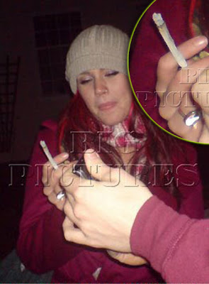 Joss Stone holding what appears to be an illegal substance - Photo courtesy of The Big Picture