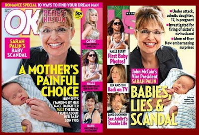 Vice Presidential Nominee Sarah Palin Hits Cover of Celebrity Tabloids