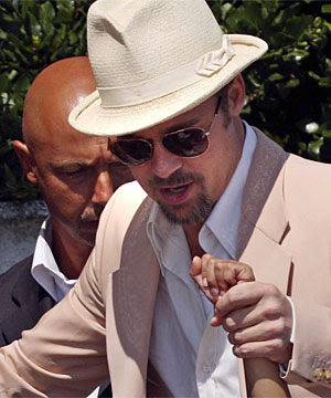 Brad Pitt Rescues Eager Fan at the Venice Film Festival - Photo courtesy of Reuters