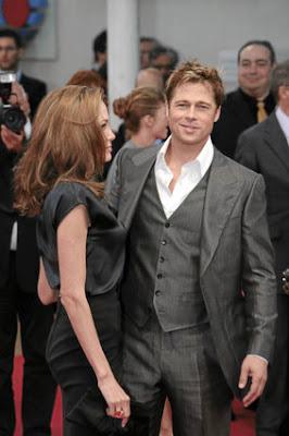 Angelina Jolie and Brad Pitt in happier times - Photo courtesy of Starpulse.com