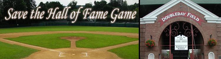 Save the Hall of Fame Game
